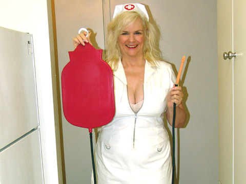 Femdom husband enema punishment